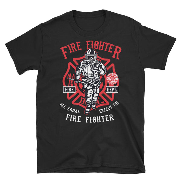 Fire Fighter Short-Sleeve Unisex T-Shirt - Dynamic Clothing Box