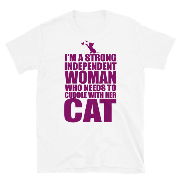 I Need To Cuddle With My Cat Short-Sleeve Unisex T-Shirt - Dynamic Clothing Box