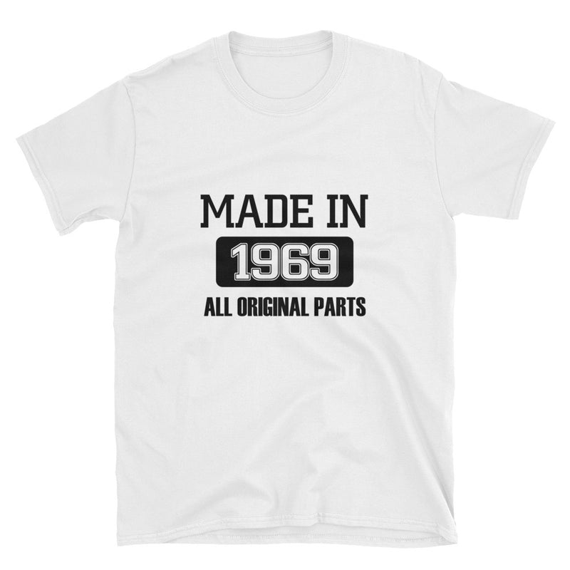 Made in 1969 (BLACK) Short-Sleeve Unisex T-Shirt - Dynamic Clothing Box