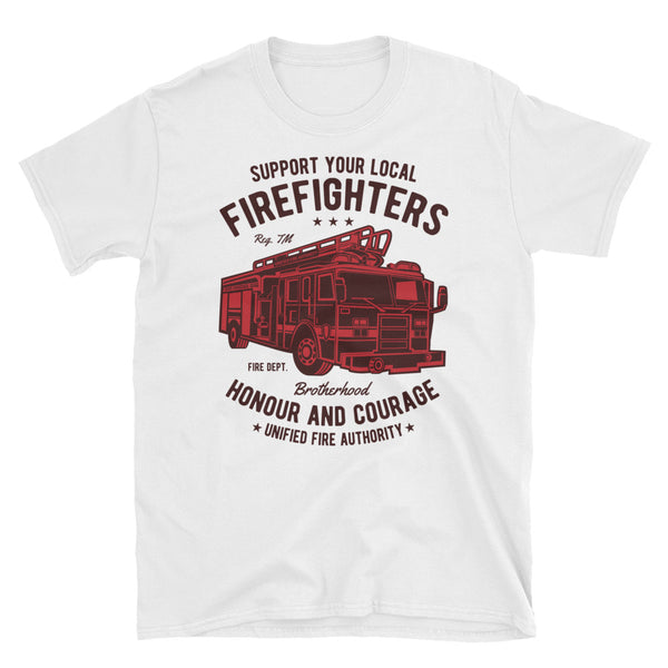 Fire Fighters Truck Short-Sleeve Unisex T-Shirt - Dynamic Clothing Box