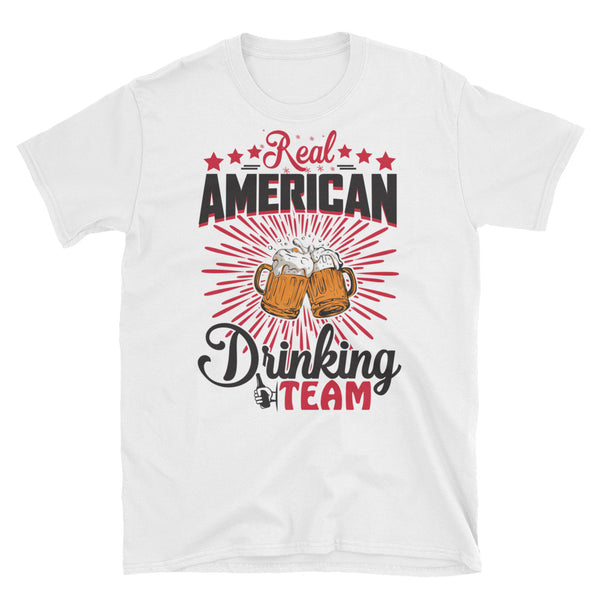 Real American Drinking Team Short-Sleeve Unisex T-Shirt - Dynamic Clothing Box