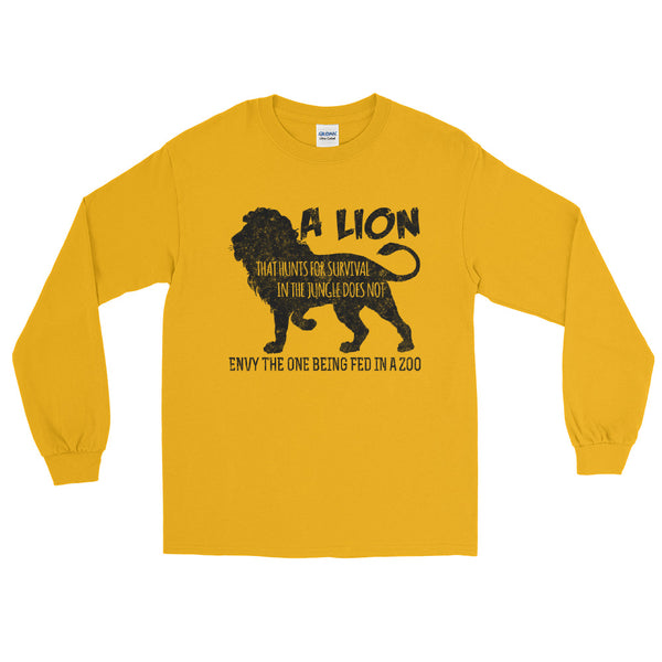 A Lion That Hunts For Survival In The Jungle Long Sleeve T-Shirt