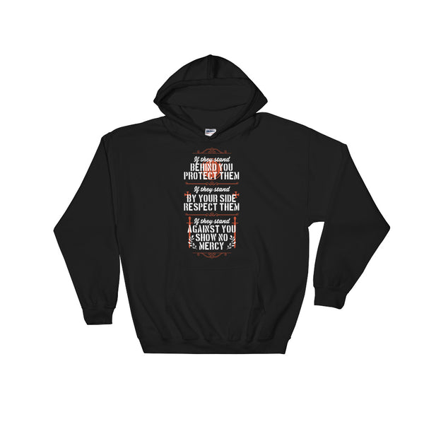 If They Stand Behind You Protect Them Unisex Hooded Sweatshirt - Dynamic Clothing Box