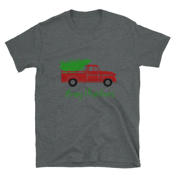 Christmas Tree Truck Short-Sleeve Unisex T-Shirt - Dynamic Clothing Box