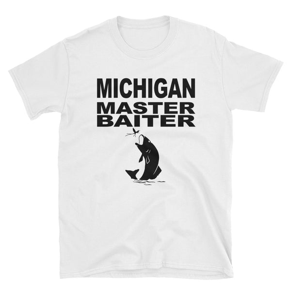 Michigan Master Baiter (BLACK) Short-Sleeve Unisex T-Shirt - Dynamic Clothing Box