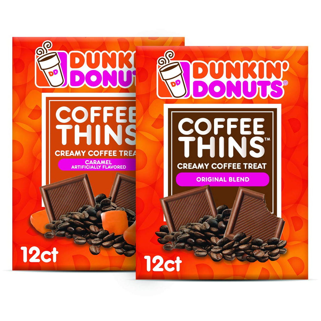 Coffee Thins Original & Caramel Variety Pack 24 Count (2x12ct)