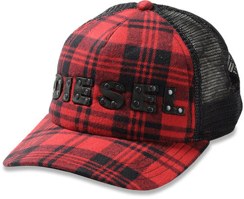 CASQUETTE DIESEL FILET ROUGE