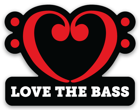 Love the Bass Sticker
