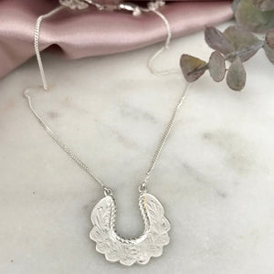 Silver Babooska Necklace by Pearl & Queenie