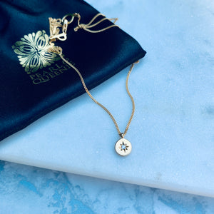 Travelling Star Diamond Necklace by Pearl & Queenie