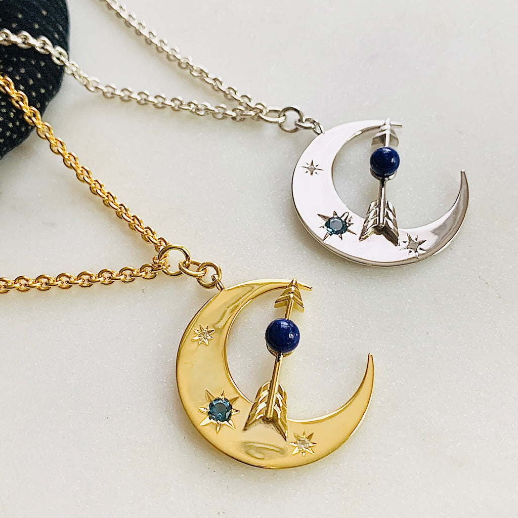 Blue Moon Pendant by Pearl & Queenie