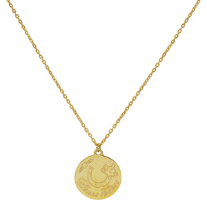 Gold Bonne Chance Necklace by Pearl & Queenie