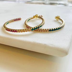X Large Rainbow Hoops