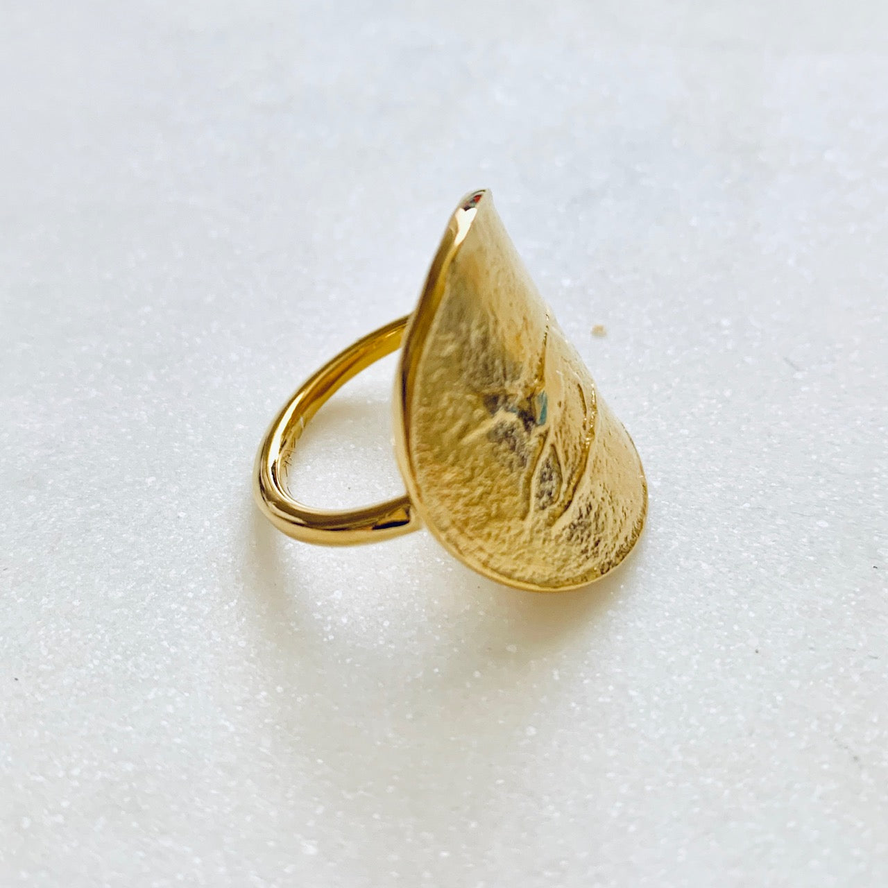 Gold Hunting Coin Ring by Pearl & Queenie