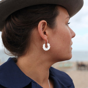 Silver Babooska Earrings by Pearl & Queenie