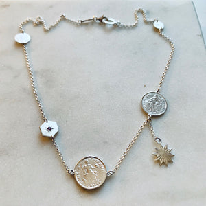 Gypsy Charm Necklace by Pearl & Queenie