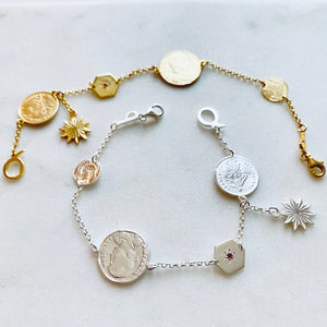 Gold Gypsy Charm Bracelet by Pearl & Queenie