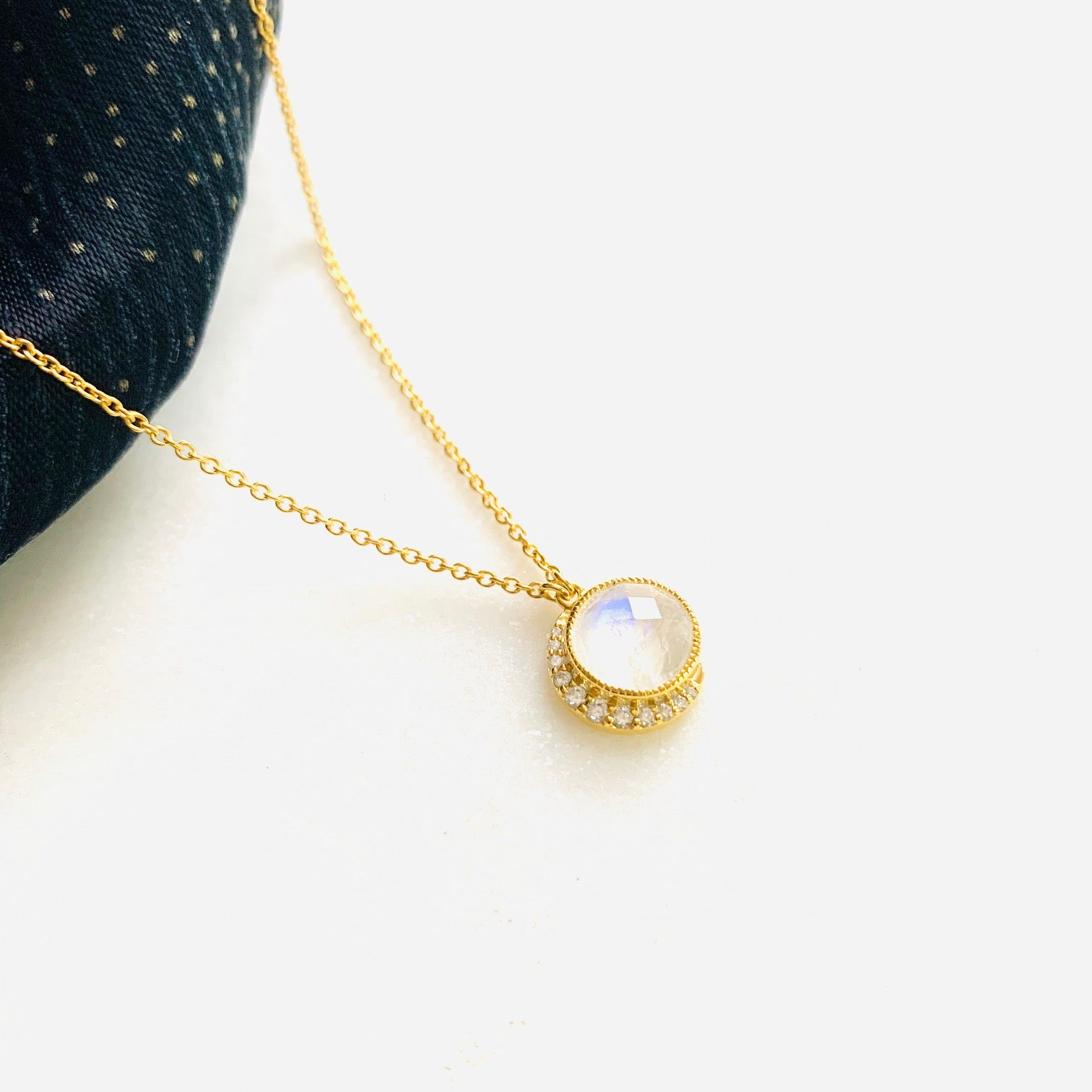 Snow Moon Necklace by Pearl & Queenie