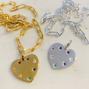 Give Love Heart Charm by Pearl & Queenie