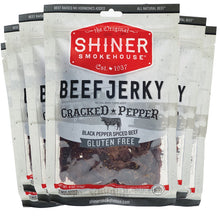 Load image into Gallery viewer, All Natural Beef Jerky Cracked Pepper Flavor (6 pack)