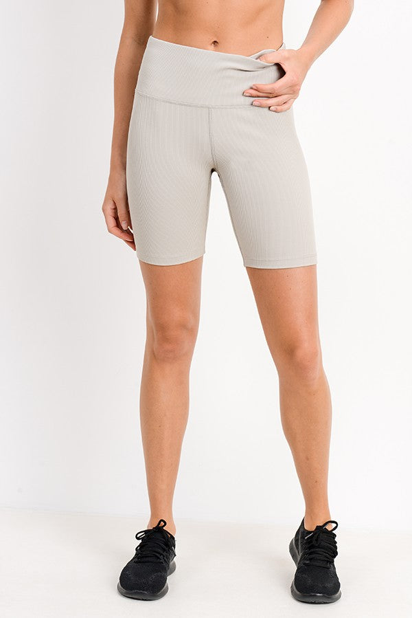 Ribbed Tan Bike Short