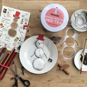 spiced winter snowman biscuits by Frances Quinn