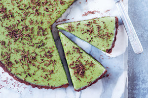 how to make a matcha chocolate tart