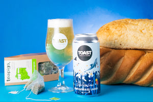 Introducing teapigs x Toast 0.5% lemongrass lager