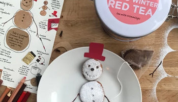spiced winter snowman biscuits