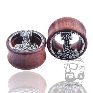 Nordic Wood Ear Tunnel jewellery 2pcs 8-20mm