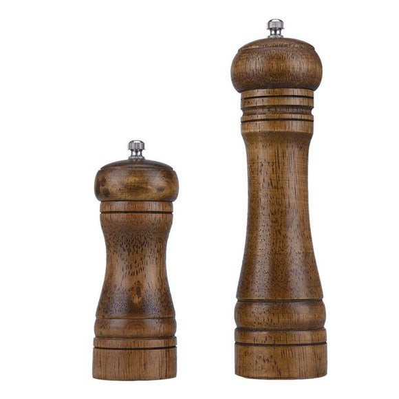1pc Classical Oak Wood Pepper/Spice Grinder