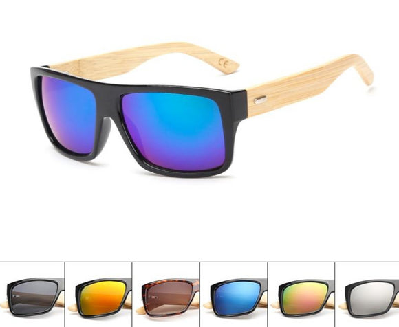 Wooden Sunglasses Mirrored UV400 -Real Wood
