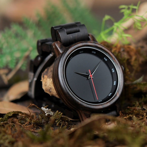 Dark Wooden Watch- Mens