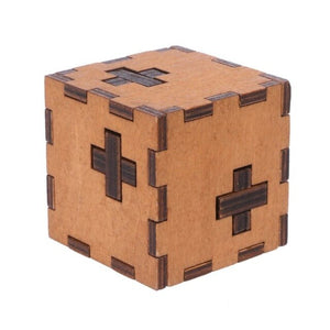 Cube Wooden Puzzle Box Wood.