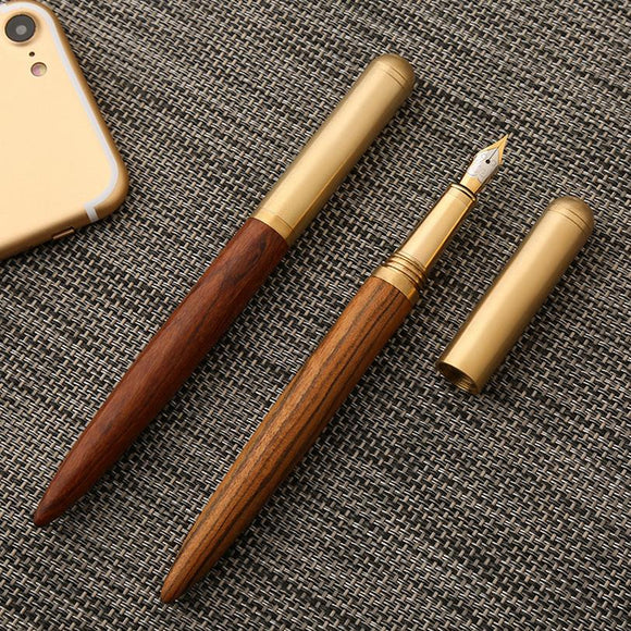 High Quality Luxury wood fountain pen ink pen nib 0.7mm