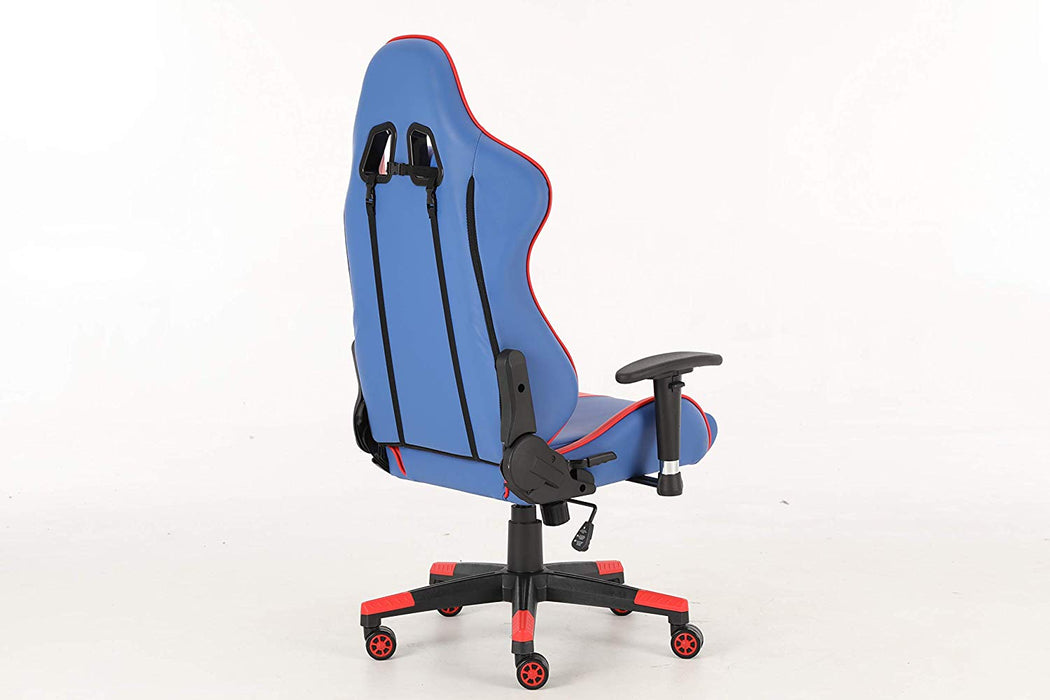 Awesome Goldedge Gaming Video Game Ergonomic Comfortable Gaming Chair Pu Leather Blue Red Gmtry Best Dining Table And Chair Ideas Images Gmtryco