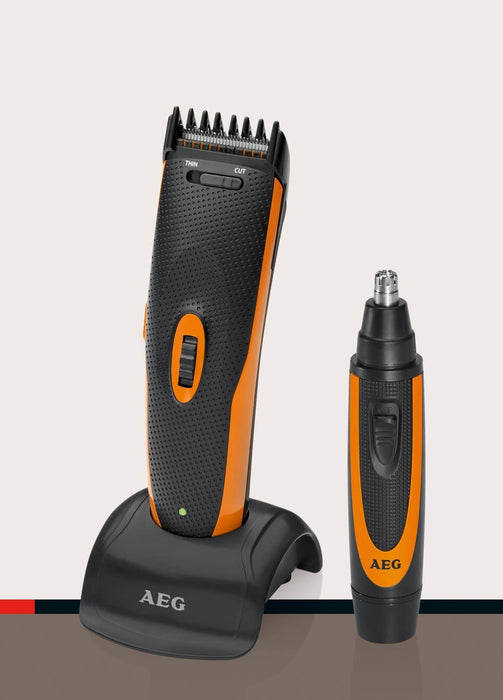 AEG HSM/R 5597 NE Hair- and Beard-Trimmer طقم حلاقة رجالي ٢في١ ...