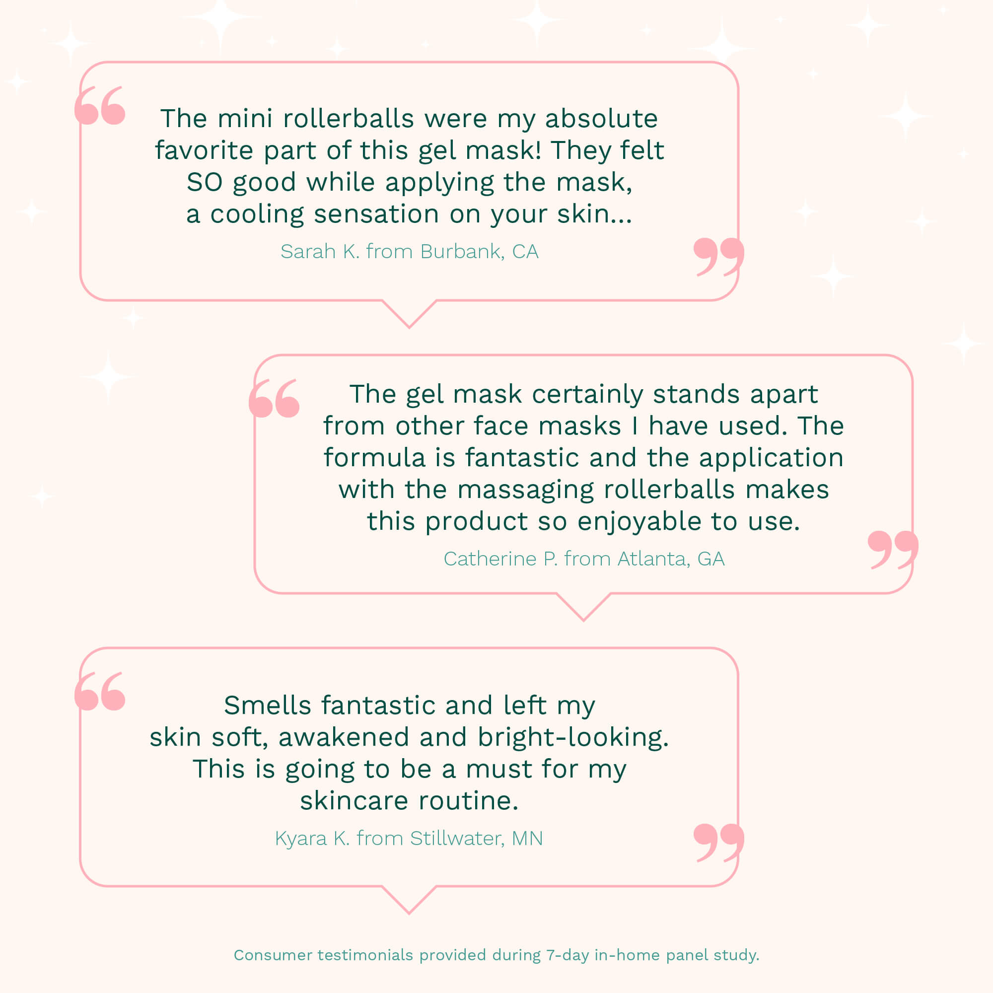 quotes about the roll with it gel detox mask that were gathered from a consumer research panel