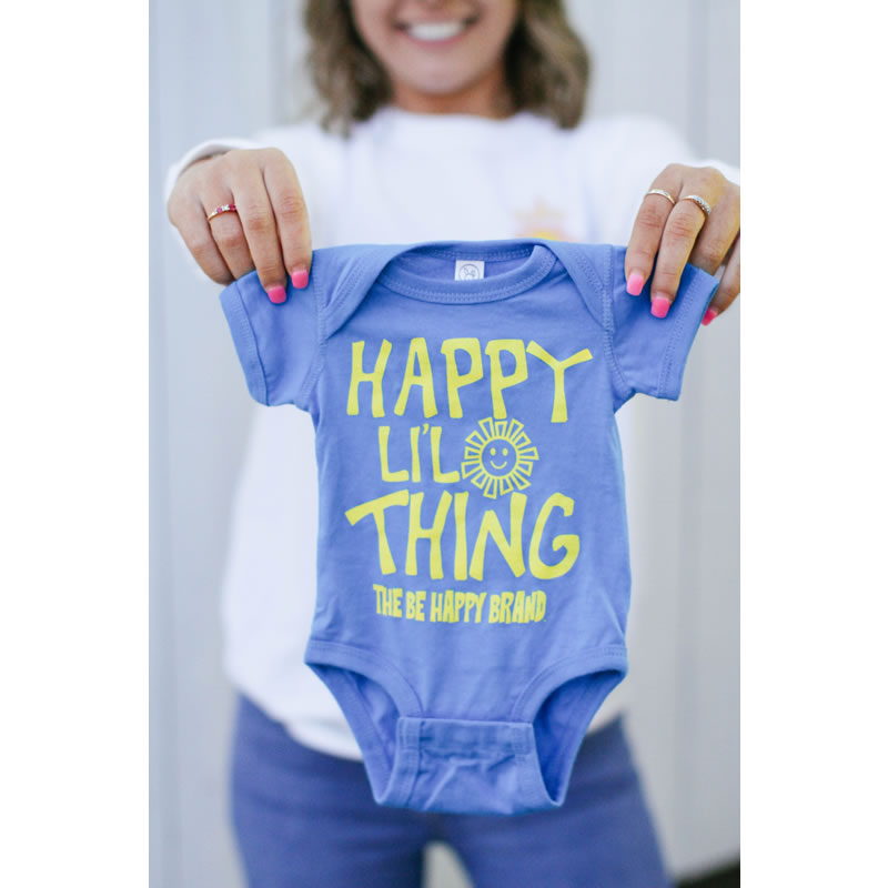 Blue Happy Li'l Thing Onesie