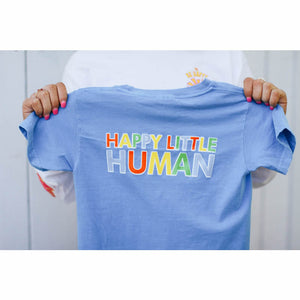 Happy Little Human T-Shirt - Royal Caribe