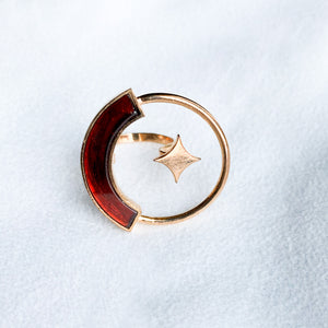 Logo Star Garnet Ring