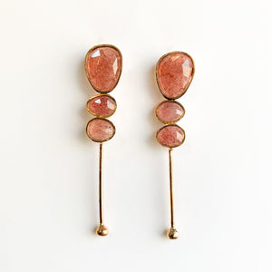 Strawberry Quartz Gradient Earrings