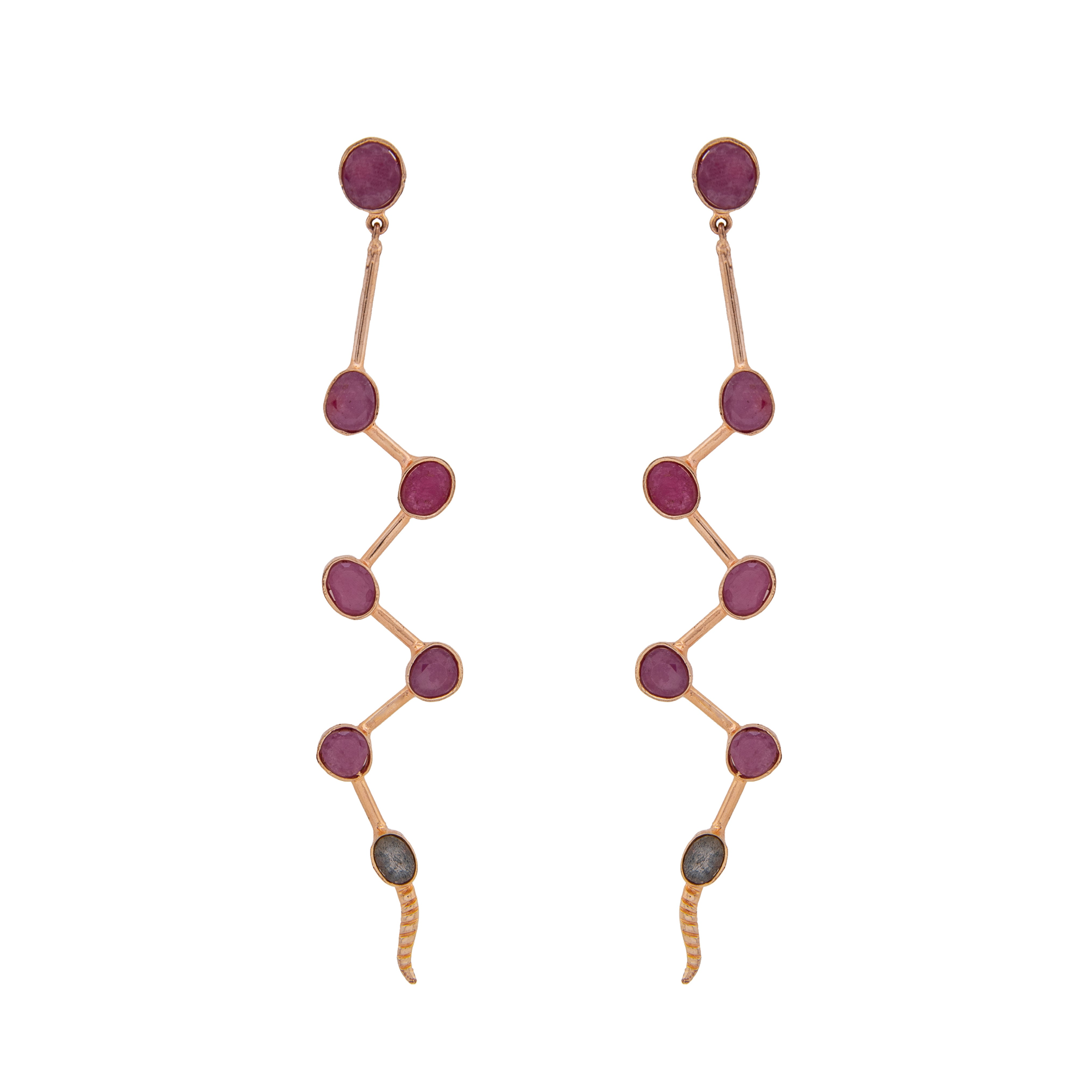 Lacerta Sapphire Earrings