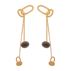 Entwined Fates Drop Earrings with Smoky Quartz by Prix.ti