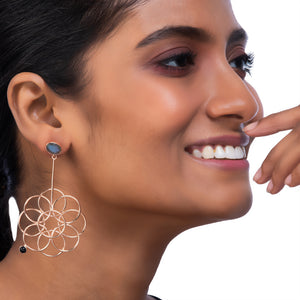 Logo Floret Drop Earrings by Prix.ti