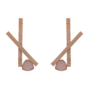 Stick & Stone Earrings by Prix.ti