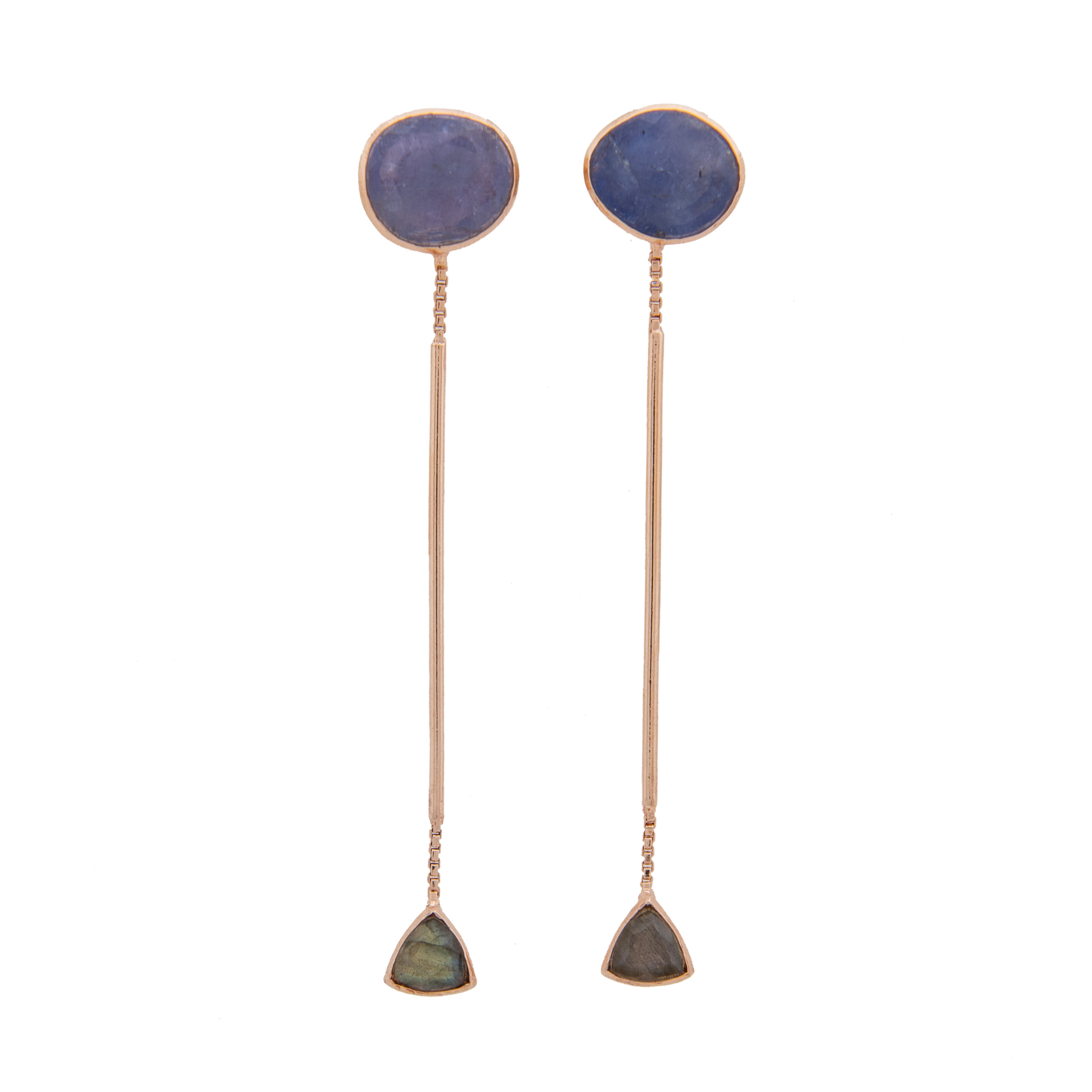Hanging In There Drop Earrings Tanzanite
