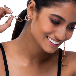 Fleur Drop Chain Earrings