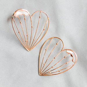 Mother of Pearl Stolen Hearts Earrings