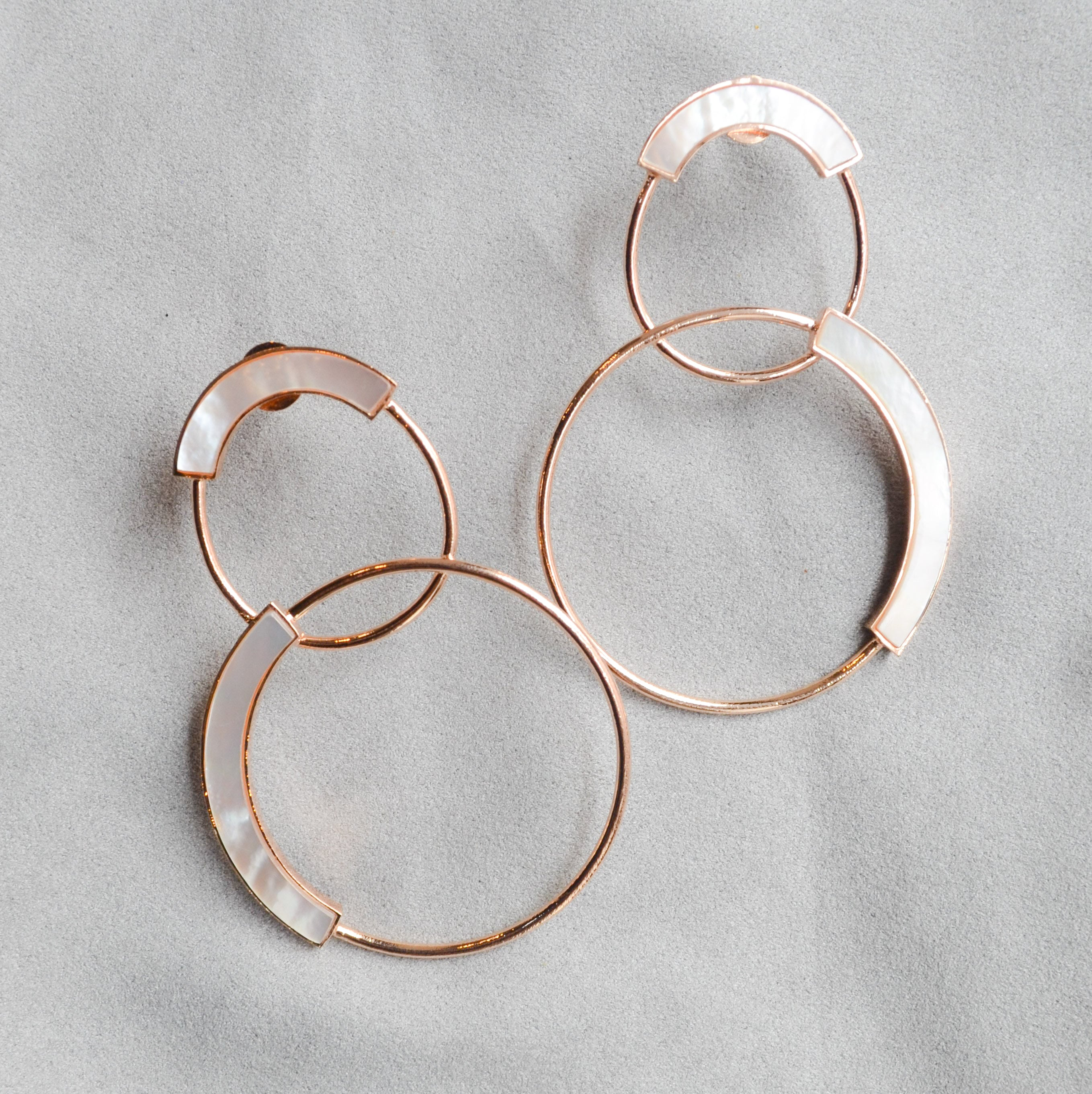 Mother of Pearl Encircler Earrings